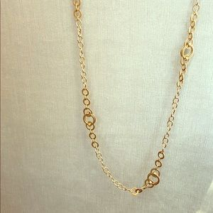 Express linked chain gold necklace